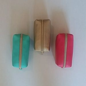 Set of 3 Betsey Johnson cosmetic bags